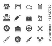 auto service icons set | Shutterstock .eps vector #481927780