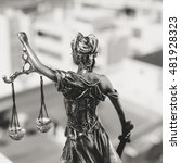 Back View Of Lady Justice ...