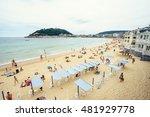 san sebastian spain   30 august ... | Shutterstock . vector #481929778