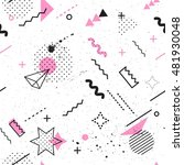 trendy geometric elements... | Shutterstock .eps vector #481930048