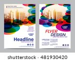 modern colorful brochure layout ... | Shutterstock .eps vector #481930420