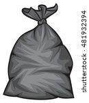 black plastic trash bag vector... | Shutterstock .eps vector #481932394