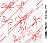 bakers twine bows  ribbons and...   Shutterstock .eps vector #481932499