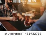 Stock photo people men leisure friendship and communication concept close up of happy male friends 481932793