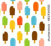 pattern colorful ice lolly | Shutterstock .eps vector #481934500
