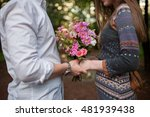 young loving couple outdoor ... | Shutterstock . vector #481939438