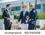 business meeting. three... | Shutterstock . vector #481940008