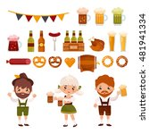 big set of funny characters and ... | Shutterstock .eps vector #481941334