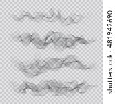 set of abstract smoky waves...   Shutterstock .eps vector #481942690