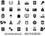 hotel icons | Shutterstock .eps vector #481943830