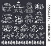 merry christmas and happy new... | Shutterstock .eps vector #481944070