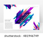 geometric background. template... | Shutterstock .eps vector #481946749