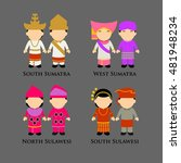 indonesian boys and girls in... | Shutterstock .eps vector #481948234