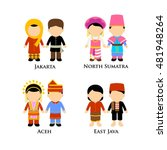 indonesian boys and girls in... | Shutterstock .eps vector #481948264