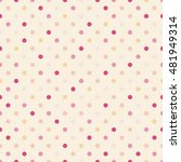 seamless pattern with polka dot.... | Shutterstock .eps vector #481949314