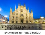 the duomo of milan cathedral in ...   Shutterstock . vector #481950520