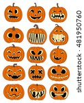illustration of pumpkins for... | Shutterstock .eps vector #481950760