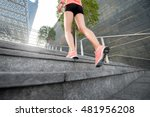 sports woman running on the... | Shutterstock . vector #481956208