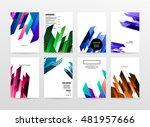 geometric background. template...   Shutterstock .eps vector #481957666