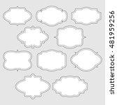 set of white vintage labels... | Shutterstock .eps vector #481959256