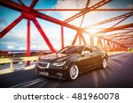 modern black metallic sedan car ... | Shutterstock . vector #481960078