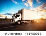 commercial cargo delivery truck ...   Shutterstock . vector #481960093