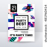 disco party poster template... | Shutterstock .eps vector #481960414