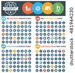 big icons database server big... | Shutterstock .eps vector #481964230