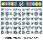 big icons social media finance... | Shutterstock .eps vector #481964524