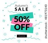 flat design eye catching sale... | Shutterstock .eps vector #481973140