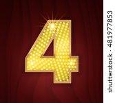 gold light lamp bulb font... | Shutterstock .eps vector #481977853