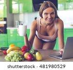 beautiful sexy girl in... | Shutterstock . vector #481980529