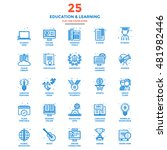 set of modern flat line icon... | Shutterstock .eps vector #481982446