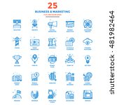 set of modern flat line icon... | Shutterstock .eps vector #481982464