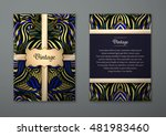 vintage card with tribal... | Shutterstock .eps vector #481983460