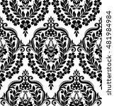 black damask vintage floral... | Shutterstock .eps vector #481984984