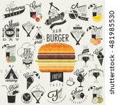 retro vintage style restaurant...   Shutterstock .eps vector #481985530