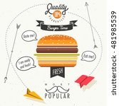 retro vintage style fast food...   Shutterstock .eps vector #481985539