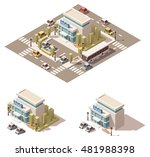 vector isometric low poly... | Shutterstock .eps vector #481988398