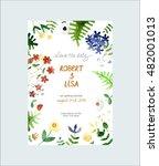 elegant wedding card design...   Shutterstock .eps vector #482001013