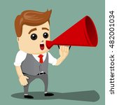 manager character talking in... | Shutterstock .eps vector #482001034
