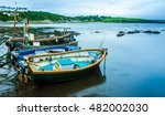 fishing boats on the water in... | Shutterstock . vector #482002030