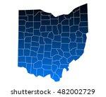 map of ohio   Shutterstock .eps vector #482002729