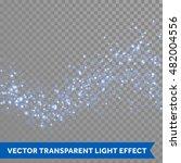 neon blue glittering star dust...   Shutterstock .eps vector #482004556