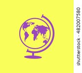 world globe.vector icon.   Shutterstock .eps vector #482007580