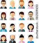 set of business avatar european ... | Shutterstock .eps vector #482009650