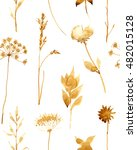 Seamless Pattern With Dry...