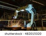 robot welding test run program... | Shutterstock . vector #482015320