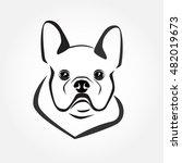 french bulldog icon vector. dog ... | Shutterstock .eps vector #482019673
