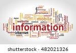 information word cloud.... | Shutterstock .eps vector #482021326
